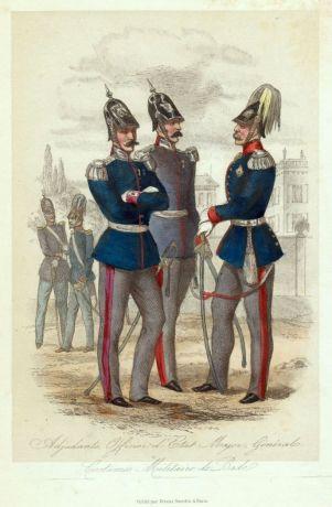 Badische Offiziere um 1850